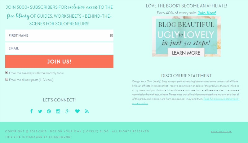 Design Your Own Blog's Footer