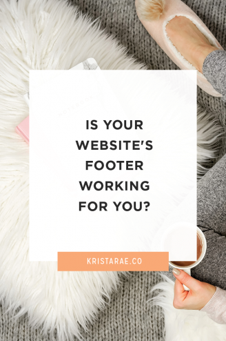 The footer is the most under-used section of most websites. Is your website's footer working for you? If not, let's find out how we can put it to work!
