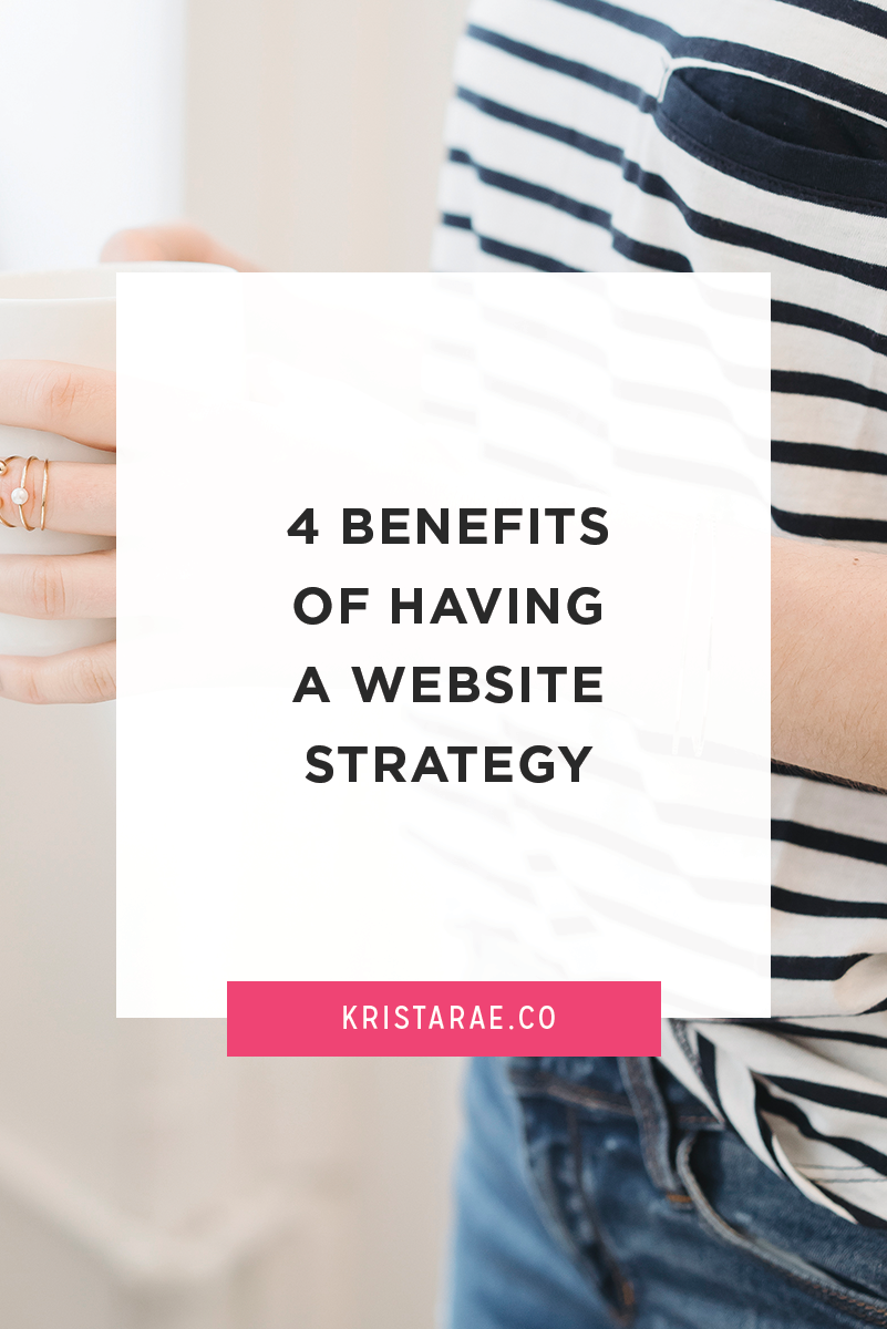 Join me in a website strategy mini challenge and learn about the top 4 benefits of having a website strategy!