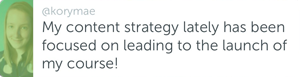 Kory - Content strategy
