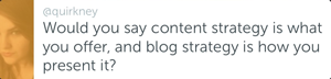 Quirkney - Blog vs content strategy
