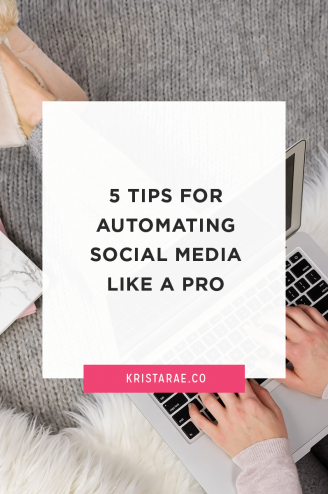 5 Tips For Automating Social Media Like A Pro - Guest post by Cat Rose on Krista Rae