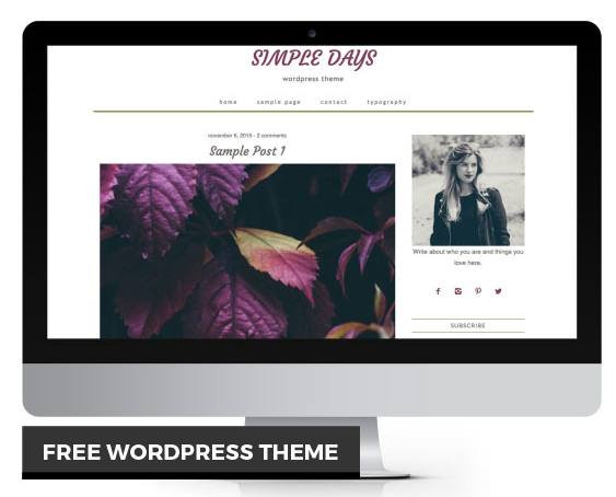Lily's free WordPress theme - Krista Rae