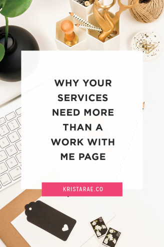 If you're looking to make a living in this online space, I'd bet you're selling your services through a Work With Me page. Here's why that isn't enough