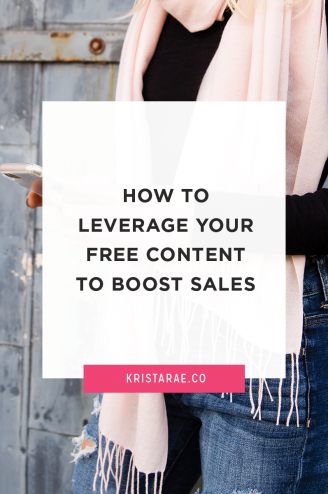 Free content helps you build authority, establish a relationship, and boost your sales (yes, really!). Click through to read how you can leverage your free content to boost sales.