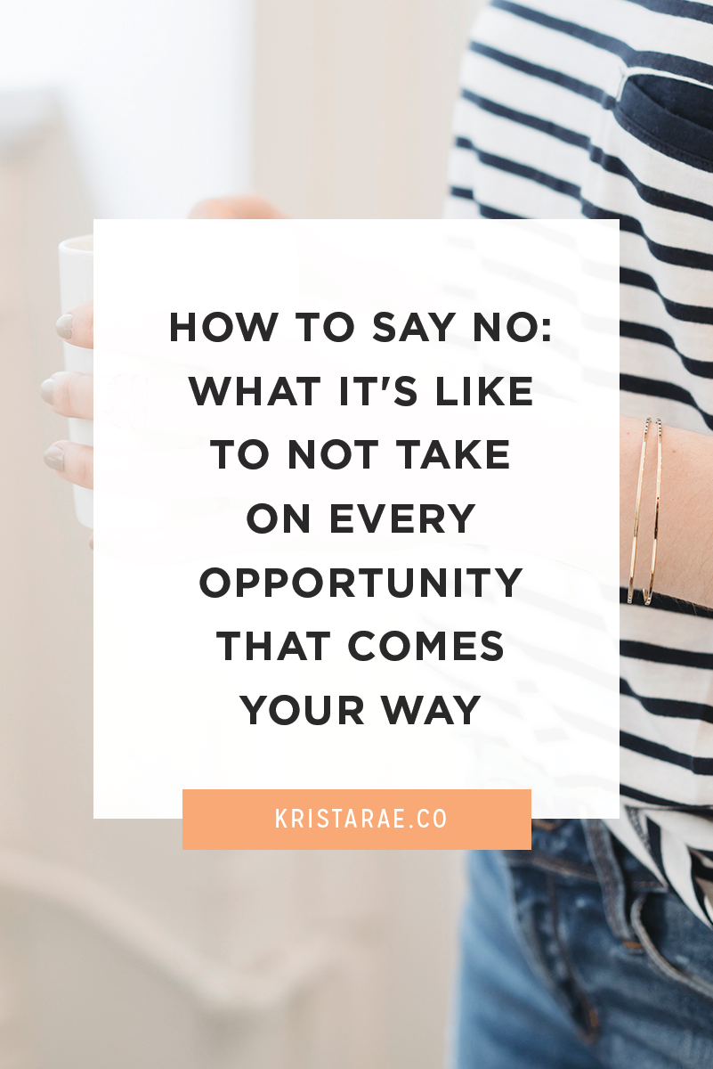 "As entrepreneurs, we tend to have a ""yes"" attitude. We'll say yes to every opportunity that comes our way. Here's how to determine which things you should say no to."