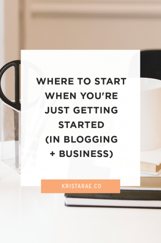 "Finding your footing with a new blog and business is hard. There's so much advice floating around and it's impossible to know which advice will work for you. Here's how to tackle all the things you ""have"" to do in your new blog and business."