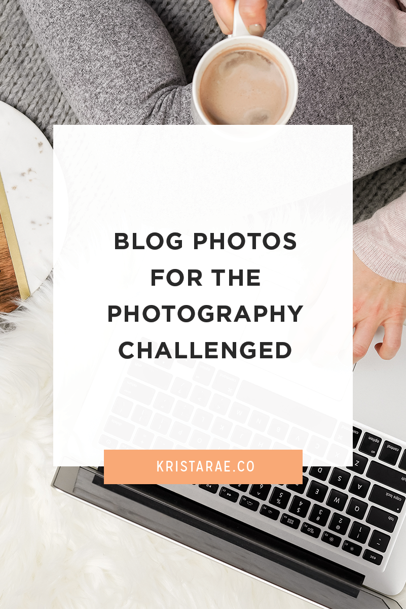 You don't have to spend a ton of time and energy on taking photos for your blog. Here's how to manage blog photos for the photography challenged (like me)!