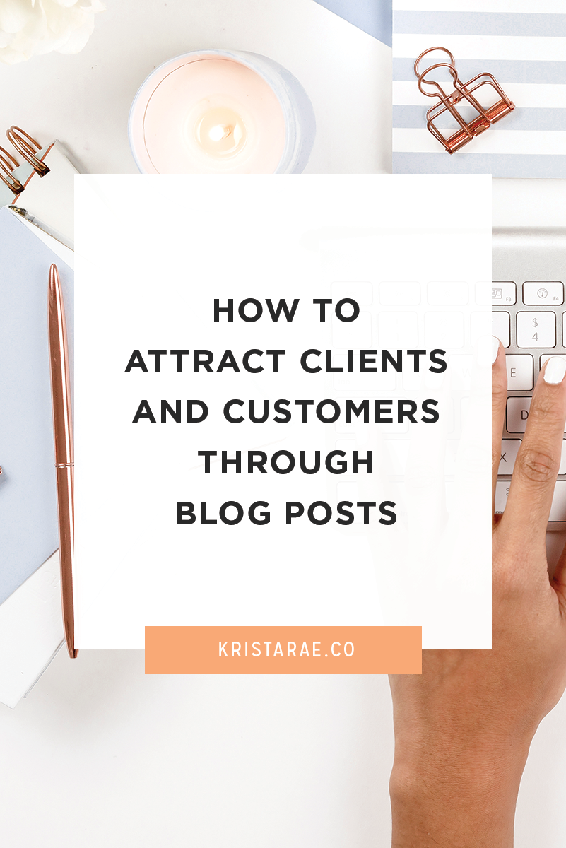 The point of your blog is to work along side your business, right? Here are 4 ways to attract clients and customers through blog posts.