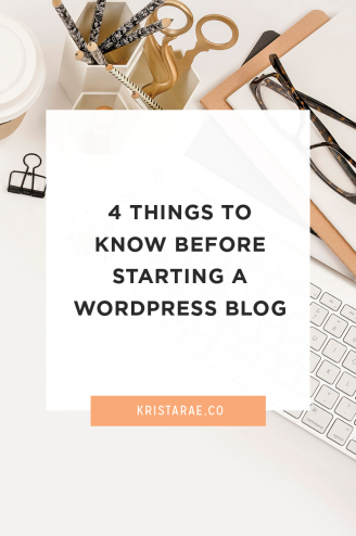 Jumping into a new blog can be a mistake. Here are 4 things to know before starting a WordPress blog!