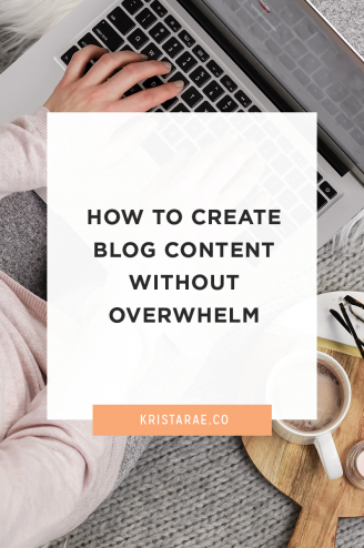 Creating content ideas is just half the battle. Here are 3 ways to create blog content without overwhelm!