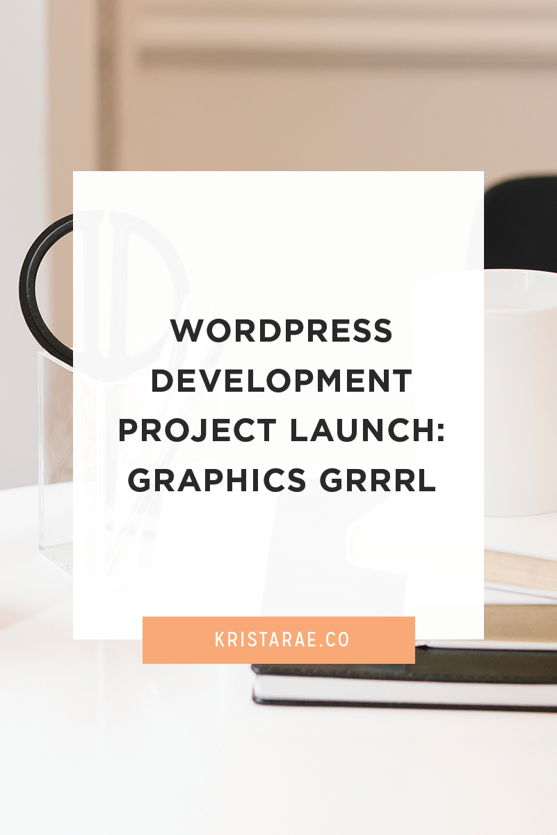 Check out the details of my most recent custom WordPress development project for Graphics Grrrl!