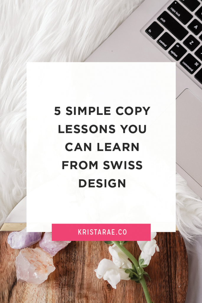 Did you know you can apply visual principles to your copy? Here are 5 simple copy lessons you can learn from Swiss Design.