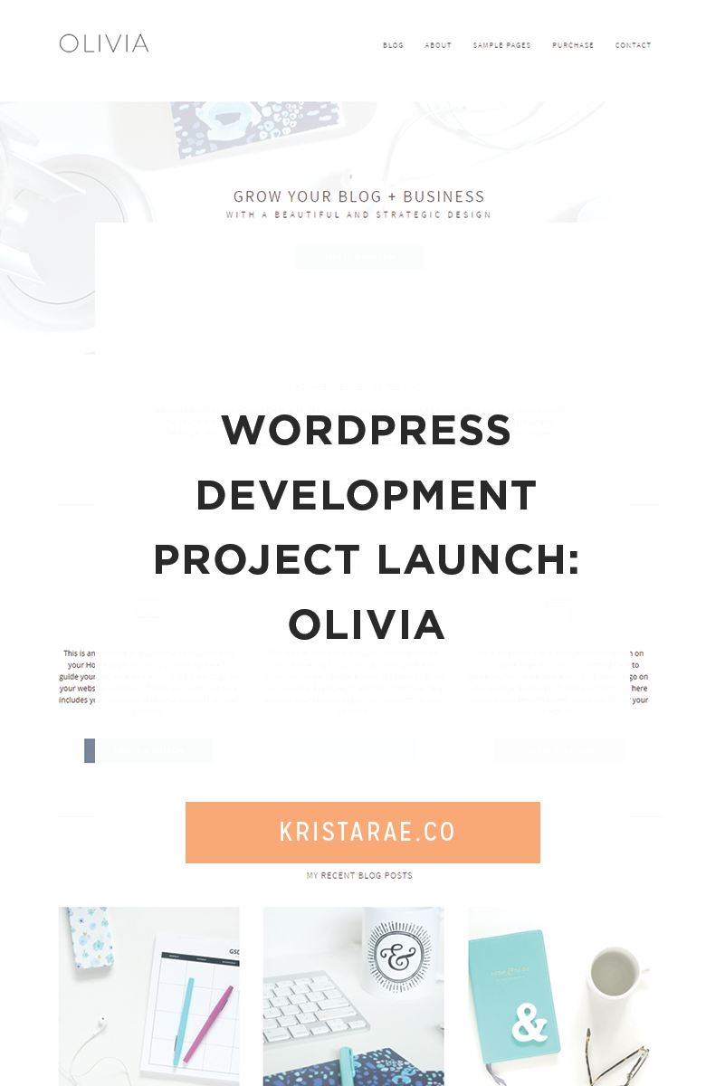 Olivia is our newest WordPress theme at Coded Creative. I had such a blast collaborating with Kory on bringing the theme to life!