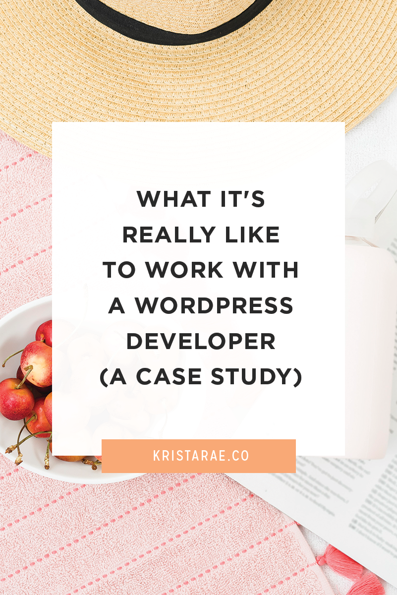 Since I've started talking about how you can collaborate with a developer on design projects, I've heard your hesitations. Today we'll talk about what it's really like to work with a WordPress developer.