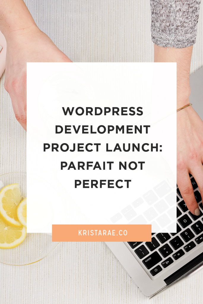 Check out the newest WordPress development project launch from Krista Rae - Parfait Not Perfect
