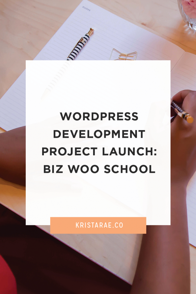 Check out the WordPress development project for Biz Woo School!