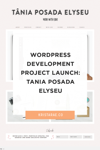 Check out the details of my custom WordPress development project for Tania Posada Elyseu!