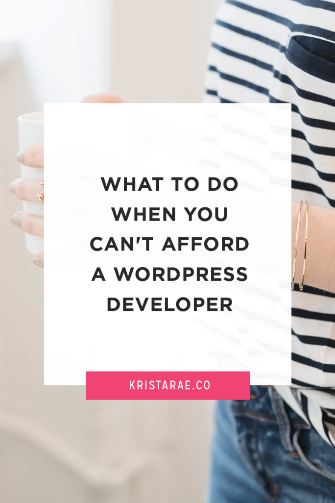 Today we'll go over 5 things you can do when you can't afford to work with a developer.