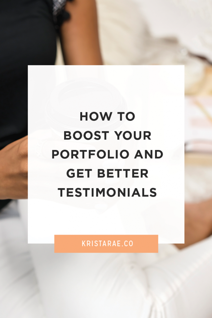 Find out where most portfolios and testimonials go wrong and a simple step you can add to your process to boost your portfolio and get better testimonials.