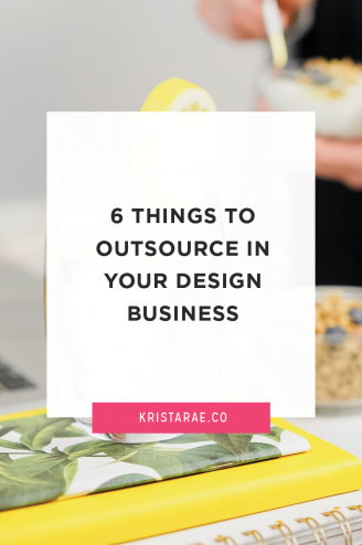 We started our own businesses to do what we love, but a lot of other tasks came with it. Here are 6 things you can outsource in your design business.