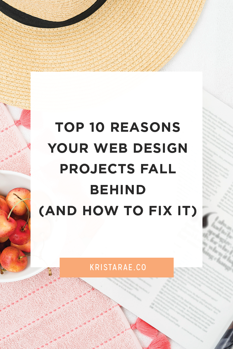 Repeat instances of projects running behind usually point to a problem that can be fixed. Today we'll go over the top 10 reasons your web design projects fall behind (that you have control over) and how to fix them.