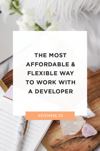 There is an affordable and flexible option for working with a developer if you aren't ready to hire them for custom development.