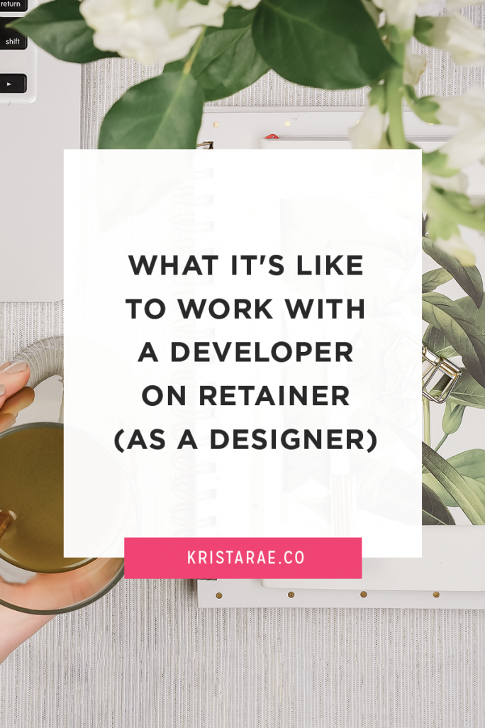 There's a lot of concerns about what it's like to hire and work with a developer on retainer. A designer gives their perspective on what it's really like.