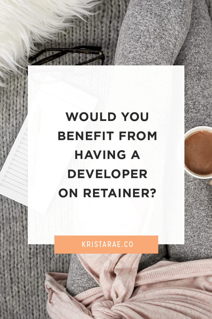 There are many benefits to having a developer on retainer. You can hand over almost anything that relates to the coding and techy pieces of websites!