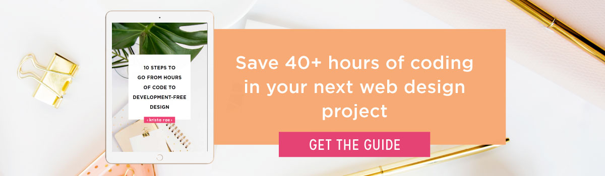 Click to go from hours of code to development-free design projects