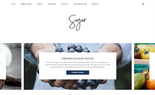 Sugar - WordPress Theme Development