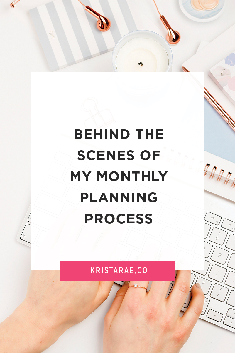Go behind the scenes of my first monthly planning day and get ideas to incorporate into your own monthly planning process.