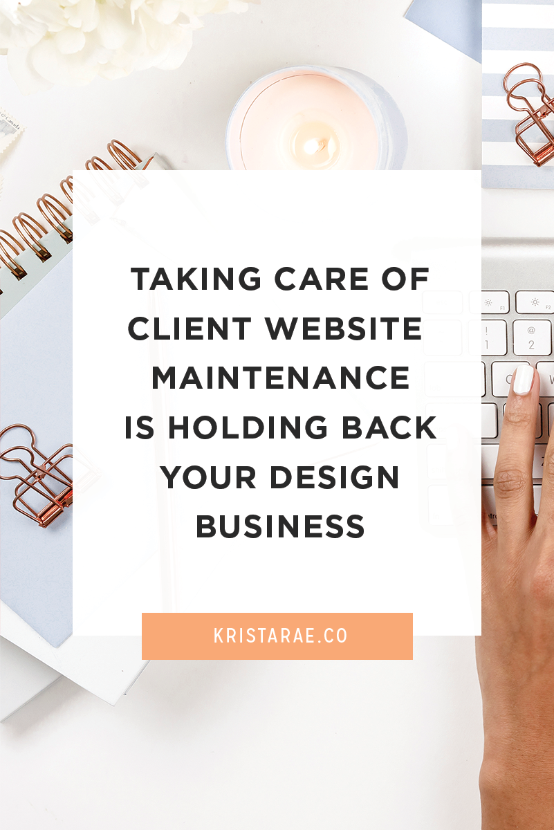 Taking care of website maintenance yourself is holding your design business back. Find out how you can turn it around to make a profit without sacrificing anything else.