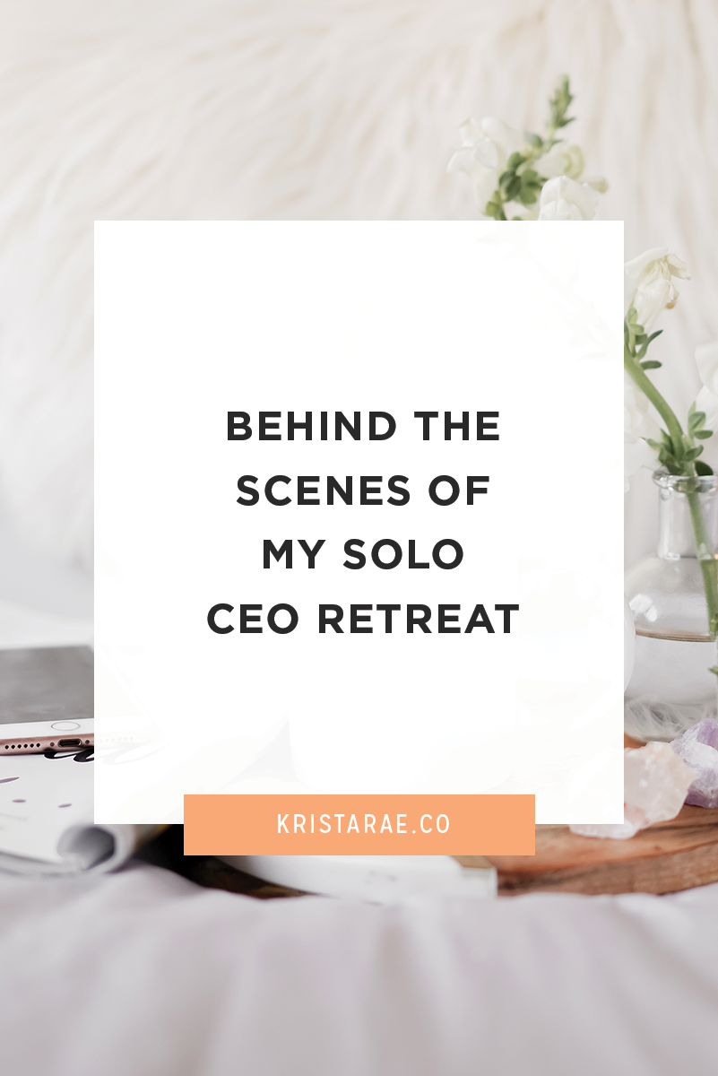 Over the past couple days I took myself on a solo CEO retreat. I booked a hotel room, packed up my car, and holed up to work on my business. I highly recommend it to anyone reading this post with a business!