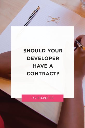 A contract is non-negotiable. Make sure that a contract is completed first thing before you get too deep into the project! Protect yourself and the others involved.
