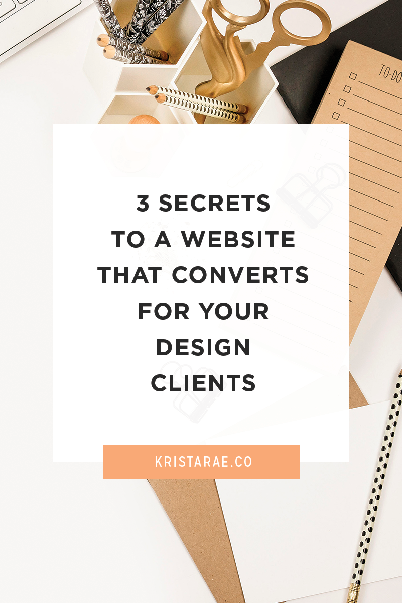 If you want to sell at a higher price point, you need to sell the results. We'll cover the 3 secrets to a website that converts for your design clients!