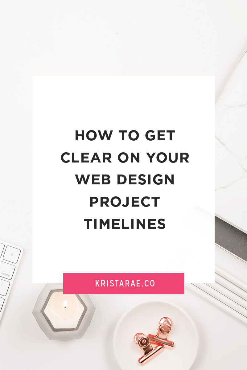 Get clear on your web design project timeline through this blog post! It includes the steps you need to create a process that works best for your design business.